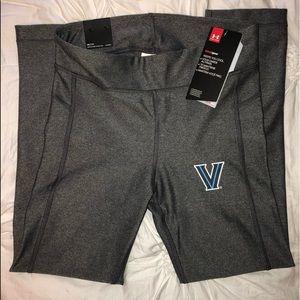 UA x Villanova cropped grey running leggings